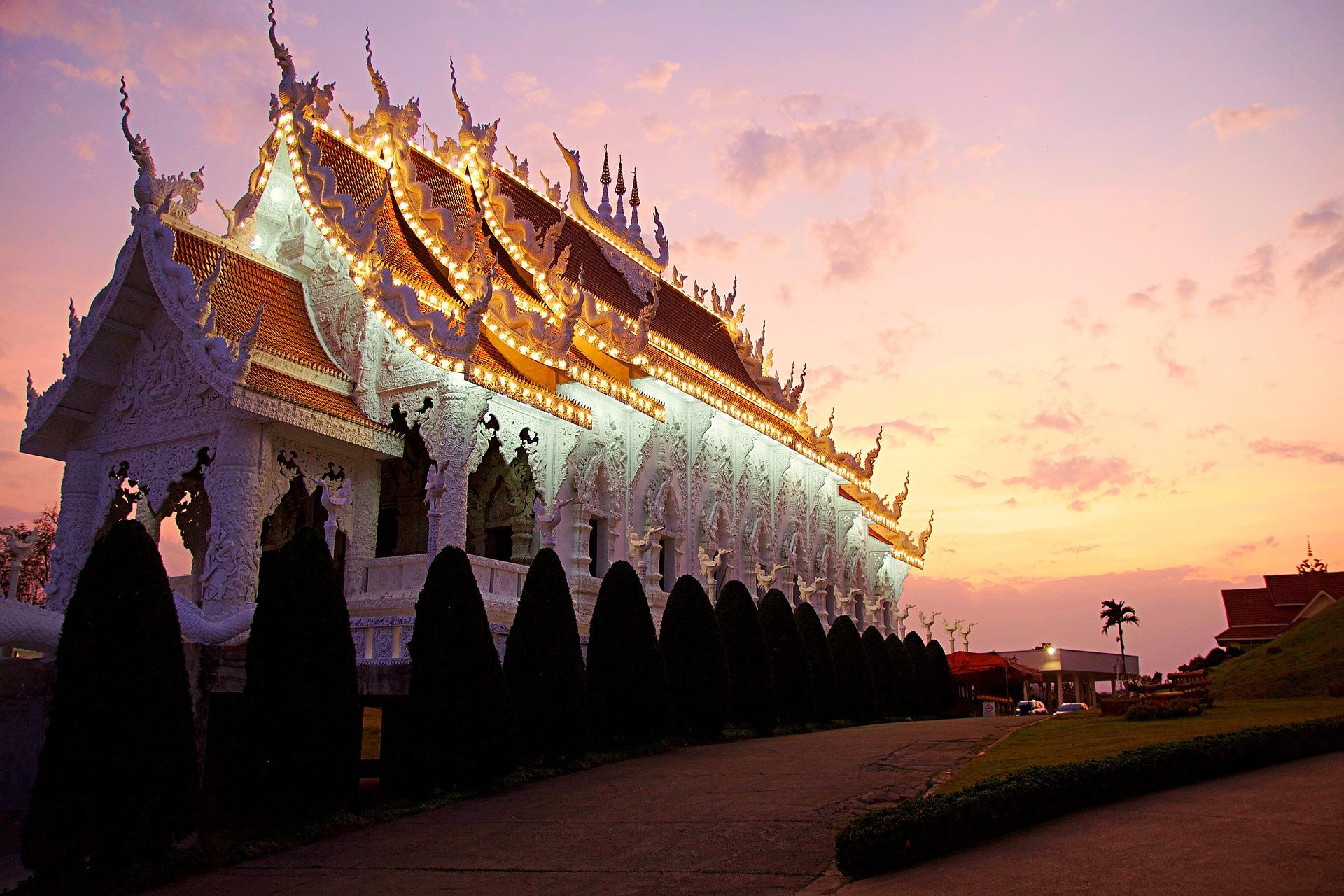 luna de miel en Tailandia templo