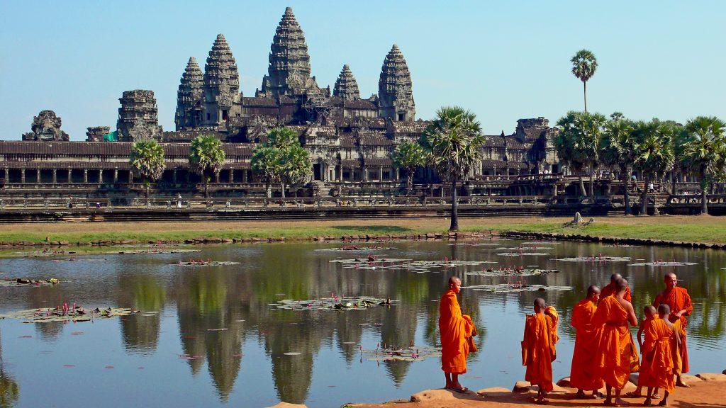 Siem Reap monjes budistas