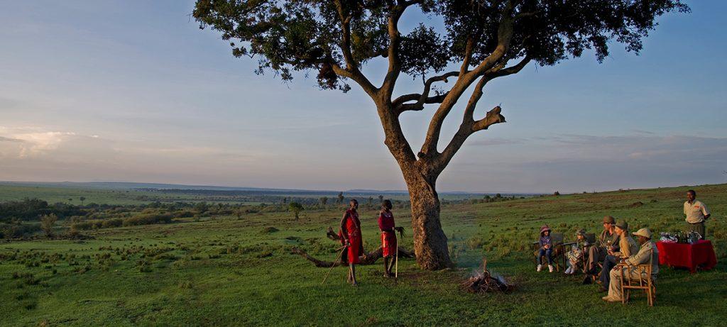 puesta de sol en Kenia